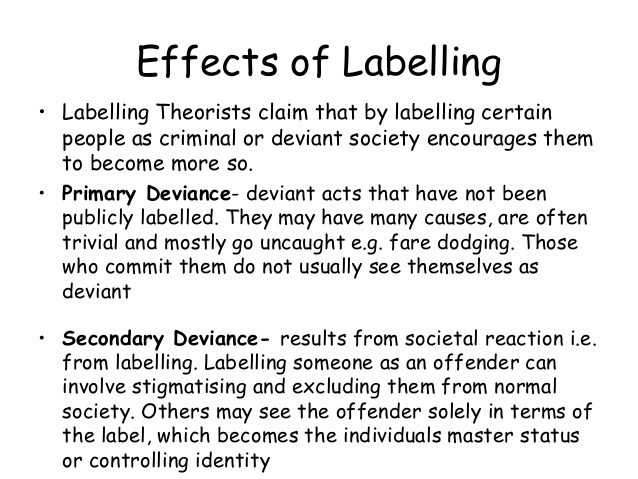 "Labelling others: part 1 ""bad person"" perhaps is of greater"