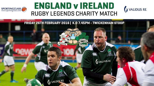 Legends, heroes and players: ireland v england of the special tribute