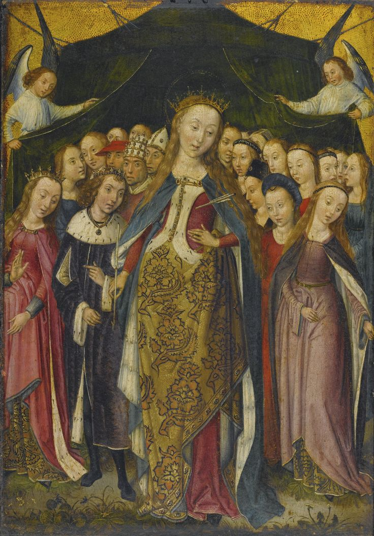 Middle british legends of ladies saints using multiple retellings