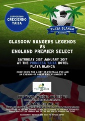 Rangers legends v england select Frank Sinclair      Seth